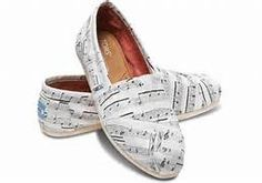 WHITE HEMP MUSIC NOTES WOMEN'S CLASSICS from TOMS | Shoes and