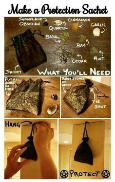 Make a protection sachet