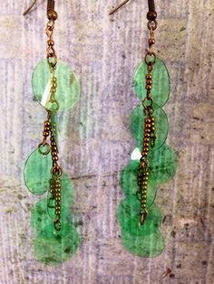A personal favorite from my Etsy shop https://www.etsy.com/listing/293148817/up-cycled-plastic-bottle-earrings