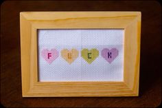 Just stitched this pattern from Subversive Cross Stitch.   http://www.subversivecrossstitch.com/