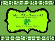 This is an adapted book for early learners, non-readers, students with autism, or early childhood students who are working on the beginning stages of matching and recognizing colors. There are three levels of learning (each level can be made into a book); single error-less matching, two choice matching, and three choice matching.