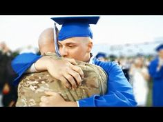 ▶ Military Dad Surprises Son At High School Graduation - YouTube