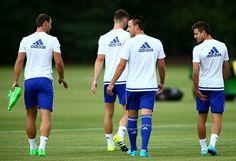 Chelsea training session, ivanovic, terry ,azpilicueta, cahill