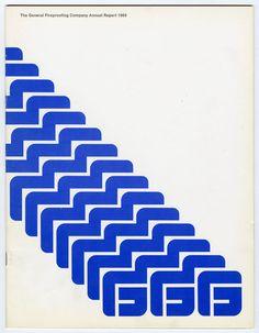 Chermayeff Geismar (IvanChermayeff Tom Geismar) — General Fireproofing Company Annual Report (1969)