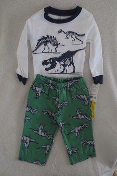 406bc56b2 Carter's Baby Boy Sleepwear Pajamas 2 Pieces Size 12 months Dinosaur New  #Carters #PajamaSets