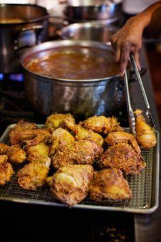 Chicken bone less deep breast fried