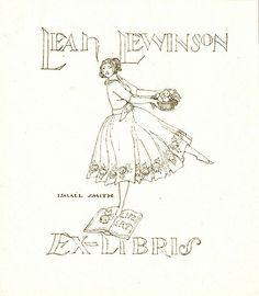 [Bookplate of Leah Lewinson] by Pratt Institute Library, via Flickr