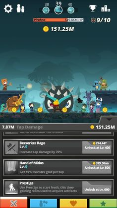 Play 2 hours tap titans make me until level 204 hehehehe..