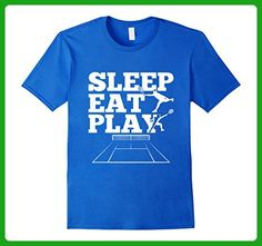 Mens Sleep Eat Play Tennis Court T-Shirt Fan Player Birthday Gift Large Royal Blue - Sports shirts (*Amazon Partner-Link)