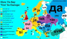 maps-oe: How to say 'yes' in European languages,... - Maps on the Web