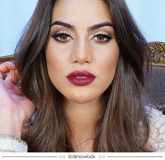 Inspiração de maquiagem perfeita para a noite de Natal! ❤️ Olhos destacados com sombra brilhosa e delineador + batom vinho da Camila Coelho.  #maquiagem #makeup #natal #beleza #beauty #inspiração #festa #dicas #lnl #looknowlook