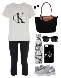 """""""Physical Therapy"""" by e-atha on Polyvore featuring NIKE, Calvin Klein, Casetify, Ray-Ban, Longchamp and Kate Spade"""