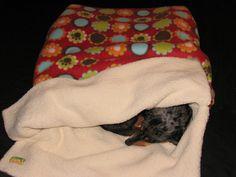 Burrow Bag Dog Sleeping Bag Snuggle Sack by TwoSweetPeasandaBoo, $18.00
