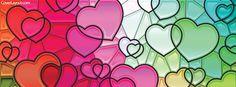 Rainbow Hearts Facebook Cover coverlayout.com