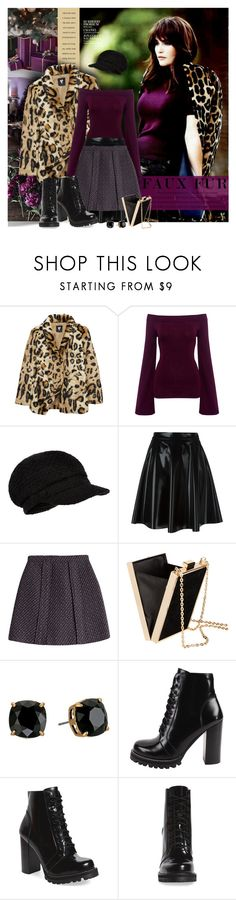 """""""Faux Fur Coat"""" by petri5 ❤ liked on Polyvore featuring Finders Keepers, Accessorize, MSGM, Carven, H&M, Tory Burch and Jeffrey Campbell"""