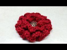 #Crochet Ruffle Flower #TUTORIAL Easy crochet tutorial - YouTube. Was very easy to make. Looks gorgeous!