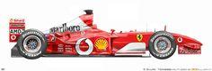 Ferrari Scuderia, Ferrari F1, Stefan Johansson, Michele Alboreto, Technical Illustration, Automobile, Car Drawings, Formula One, Courses