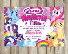 Mi invitación de Pony poco My Little Pony mi pequeño Pony