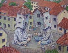 Little Stories - by Rustam Qbic Acrylics on canvas