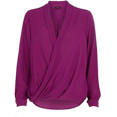 Purple wrap blouse €40.00