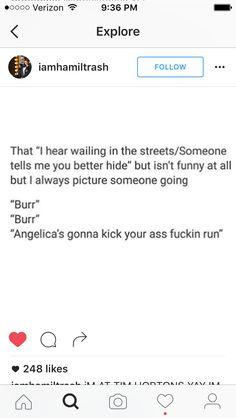 RUN FUCKING RUN, BURR. ANGELICA'S GONNA BEAT YOUR ASS