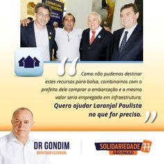 Fico feliz em poder contribuir com essa emenda de R 170 mil para a cidade de Laranjal Paulista. #FichaLimpa #77000 #DrGondim #votedrgondim77000 #Infraestrutura