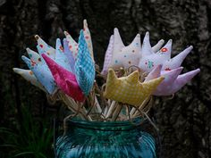10x Party Pack Crown Shape Fairy Wand Wooden by ilovemadeleine, $80.00