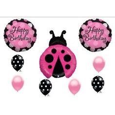 Ladybug Pink Magenta Birthday Party Balloon Decorating Kit