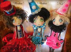 Urchin Art Dolls by Vicki at Lilliput Loft ~ 'Winken, Blinken & Nod'