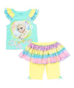 Look at this Frozen 'Let It Go' Top & Skirted Leggings - Toddler on #zulily today!
