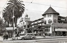 Picture postcard of the Hollywood Hotel in Formerly located on the corner of Hollywood Boulevard and Highland Avenue, the building was demolished in Source: Online Archives of California Hollywood Hotel, Hollywood Boulevard, West Hollywood, Vintage Hollywood, City Of Angels, Garden Of Allah, Hotel Sites, Hooray For Hollywood, Picture Postcards
