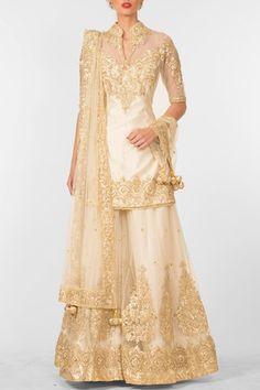 Ivory gota patti embroidered sharara set. #carma #carmaindia #designer #luxury #diwali #festiveseason #elegant #fun #cute #chic #preetiskapoor #cropthetop #tops #shopnow #onlineshopping #bollywoodstyle #celebritystyle #ootd #indianfashion #mushave #sale #bestbuys #sharara #designersharara #ivory #white #embroidered #wedding #bride #engagement #designerwearonline