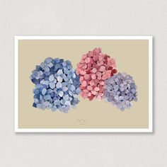 Hydrangeas reminds me of my childhood, but this watercolour poster makes me fall in love with the flower all over again! Look how different the poster look with the different backgound - my favorit with the Hydrangeas is the sand. Which one is your farvorit? 😍🌸 #Hydrangeas #poster #art #aqva #aqve_watercolours #watercolour Watercolor Artwork, Watercolor Paper, Which One Are You, Poster Making, Hydrangeas, Watercolours, I Fall In Love, My Childhood, Colorful Backgrounds