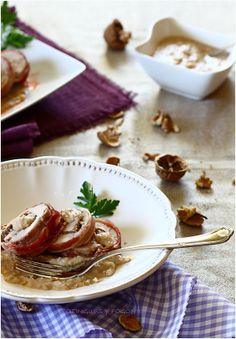 POTINGUES Y FOGONES: Solomillo relleno de paté con salsa de nueces