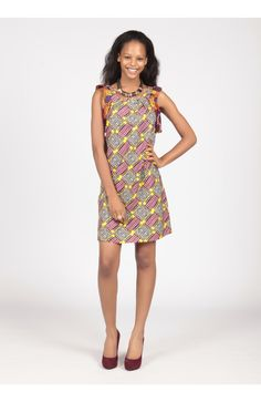 Tunic Dress by Kiki Clothing. Made in Ghana and available online at My Asho Market
