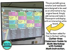 MATH WORKSHOP WITH GUIDED MATH TIPS