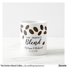 Coffee Wedding Favors, Coffee Favors, Coffee Themed Party, Unique Coffee Mugs, Blended Coffee, Wedding Website, Mug Designs, Coffee Beans, Party Themes