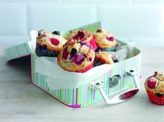 Double berry muffins - Made with a mix wholemeal and regular flour