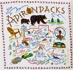 Adirondacks New York Fun Souvenir Towel Great Graphics Fun! $17.99