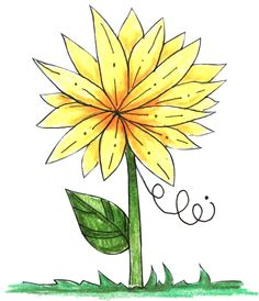 FREE Yellow Flower Clipart Download