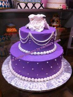 Floral birthday cake.