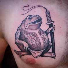 My Yakuza Frog by Cody Bader at Black Mammoth Tattoo