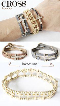 cross bracelets // madebygirl
