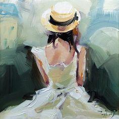 """Daily Paintworks - """"Paris"""" - Original Fine Art for Sale - © Jurij Frey"""