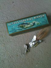 VERY NEAT OLD VINTAGE ANTIQUE AL FOSS #12 FROG WIGGLER IN THE CORRECT BOX NR