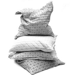 geo pillows and poufs | Mika Barr