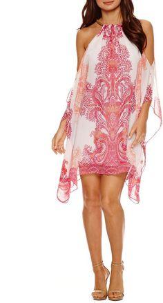 Bisou Bisou Cold Shoulder Trapeze Dress, Summer Dress, Aflink