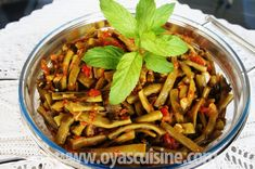 Oya's Cuisine - Turkish Flat Beans With Olive Oil