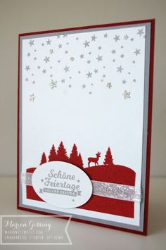Stampin' Up, Schöne Feiertage, Weihnachtskarte