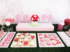 Enchanted Fairy Garden dessert table! | Flickr - Photo Sharing!